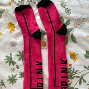vs pink knee socks